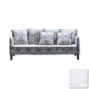 Gervasoni UP 10 Sofa, Bezug Lino Bianco