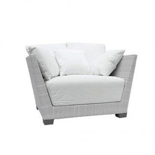 InOut 501 Lounge-Sessel grau, Bezug Lino Bianco