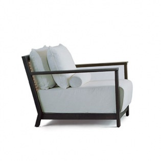 OTTO 115 Lounge-Sessel, Bezug Lino Bianco
