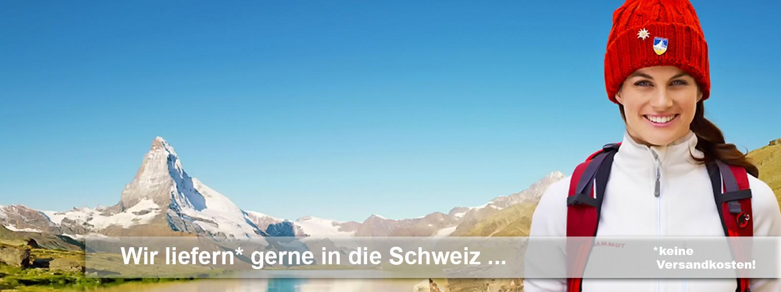 Brandstores Versand in die Schweiz