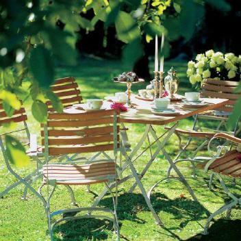 Wetterfeste Weishäupl Gartenmöbel - Gartenstuhl und Gartentisch
